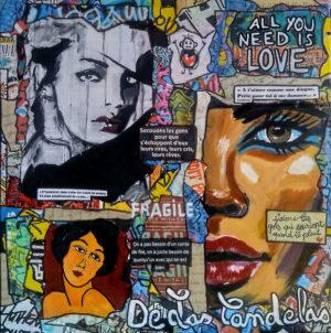 Tableau BANG-BANG Cécile De Las Candelas artiste peintre