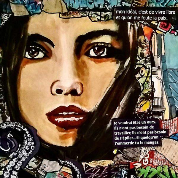 Tableau CONVICTION Cécile De Las Candelas artiste peintre