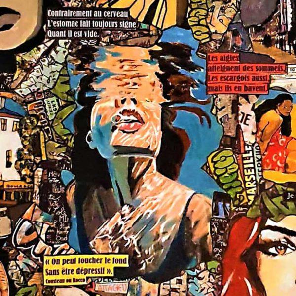 Tableau DANS MA BULLE Cécile De Las Candelas artiste peintre