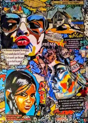 Tableau ON MY WAY, Cécile De Las Candelas artiste peintre