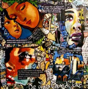 Tableau PEAU D'AME, Cécile De Las Candelas artiste peintre