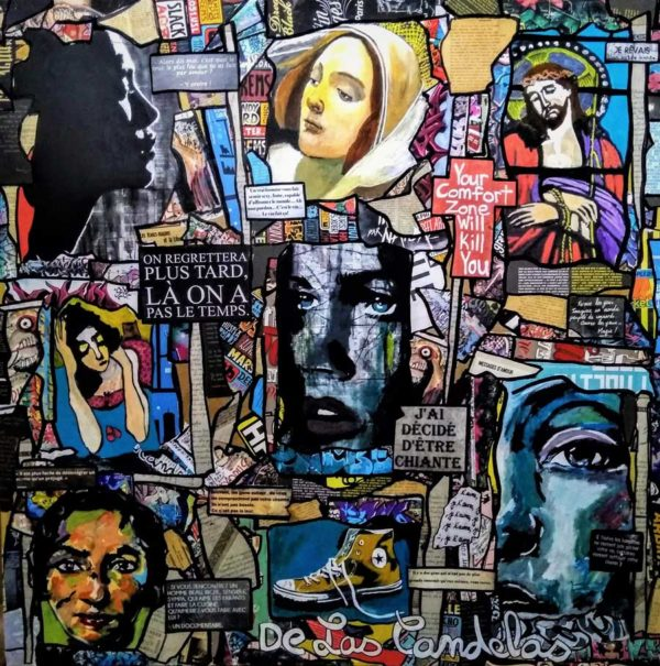 Painting PRETTY WOMAN, 100x100 cm, De Las Candelas painter
