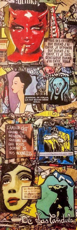 Tableau SHINNING, Cécile De Las Candelas artiste peintre