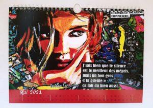 Calendrier 2021, série limitée et numérotée ! Cécile De Las Candelas artiste peintre