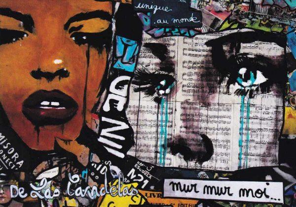 Carte Peace and Love extrait N°1, Cécile De Las Candelas artiste peintre