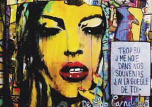 Card King Kong N°2. Cécile De Las Candelas painter.