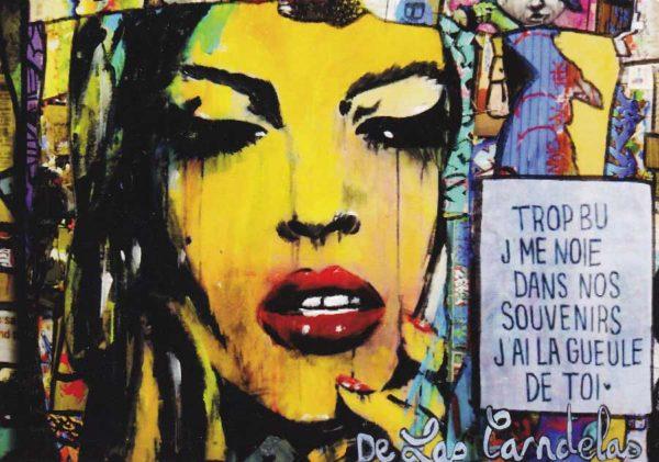 Carte King Kong extrait N°2, Cécile De Las Candelas artiste peintre
