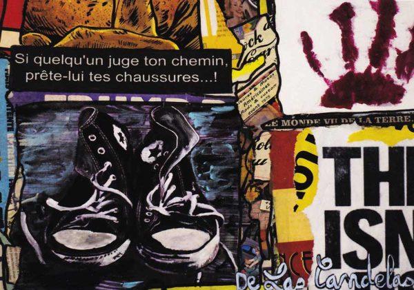 Carte Liberté extrait N°1, Cécile De Las Candelas artiste peintre