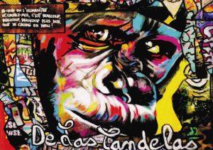 Card King Kong N°1. Cécile De Las Candelas painter.