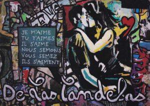 Carte Hearts Attach extrait N°2, Cécile De Las Candelas artiste peintre