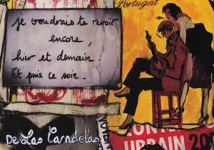 Card Zoo N°1. Cécile De Las Candelas painter.