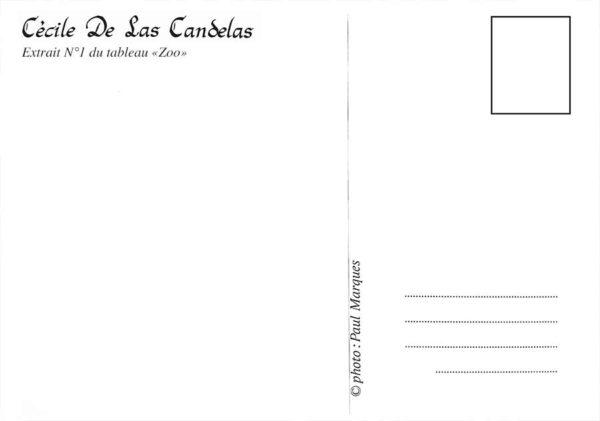 Carte Zoo N°1, Cécile De Las Candelas artiste peintre