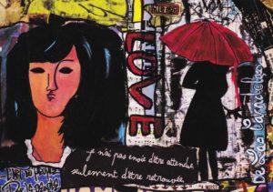 Card Liberté N°4. Cécile De Las Candelas painter.
