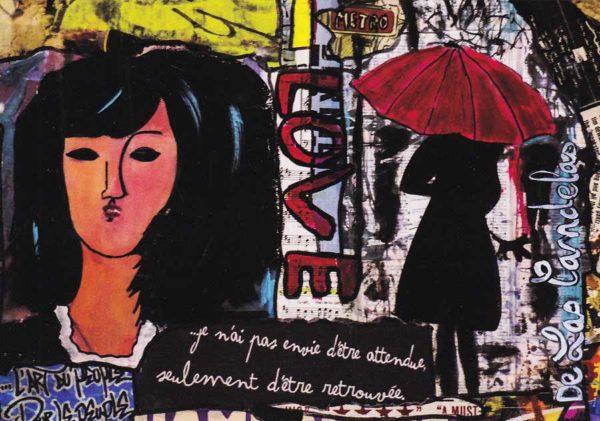 Carte Liberté N°4, Cécile De Las Candelas artiste peintre