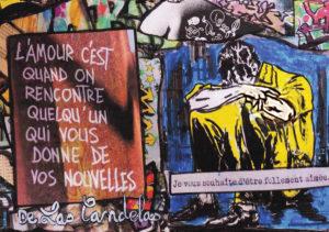 Carte Shining N°3, Cécile De Las Candelas artiste peintre