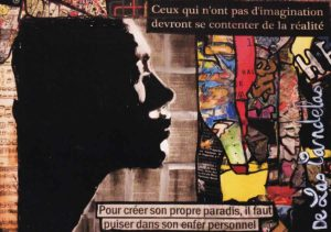 Card Partition N°1. Cécile De Las Candelas painter.