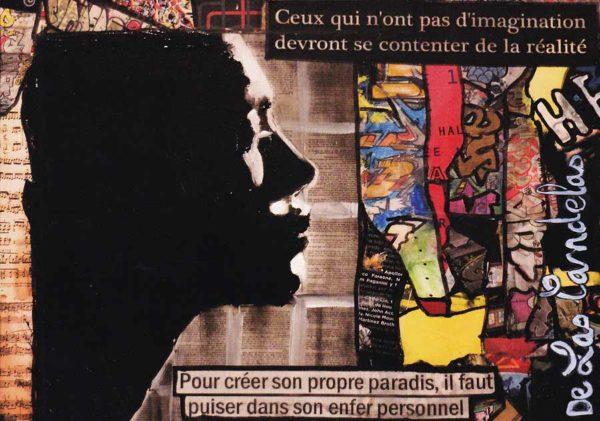 Carte Partition N°1, Cécile De Las Candelas artiste peintre