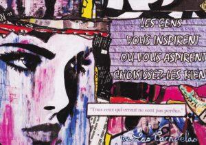 Card Égalité N°2. Cécile De Las Candelas painter.