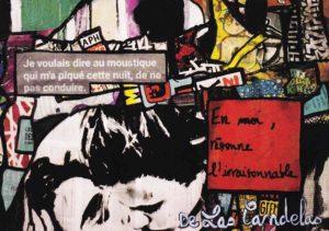 Card Zone de confort N°3. Cécile De Las Candelas painter.
