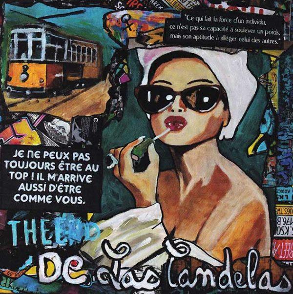 Carte Un tramway nommé... N°2, Cécile De Las Candelas artiste peintre