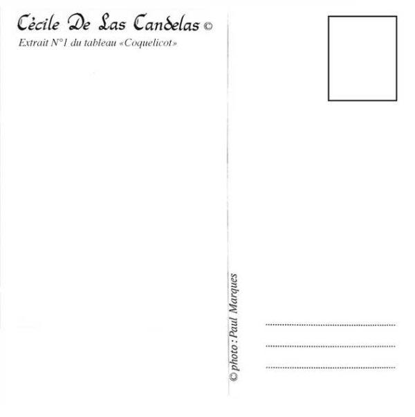 Carte Coquelicot N°1, Cécile De Las Candelas artiste peintre
