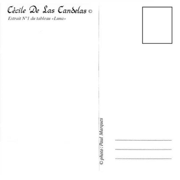 Carte Luna N°1, Cécile De Las Candelas artiste peintre