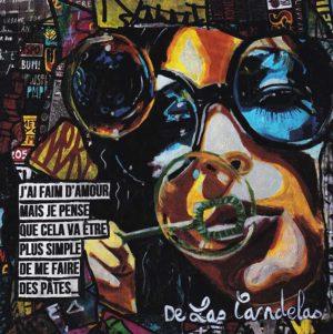 Card Un tramway nommé... N°1. Cécile De Las Candelas painter.