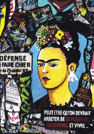 Card Frida, Norma et les autres N°1. Cécile De Las Candelas painter.