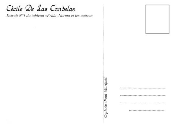 Carte Frida, Norma et les autres N°1, Cécile De Las Candelas artiste peintre
