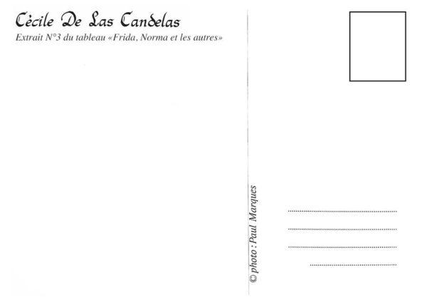 Carte Frida, Norma et les autres N°3, Cécile De Las Candelas artiste peintre