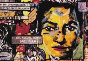 Card Partition N°2. Cécile De Las Candelas painter.
