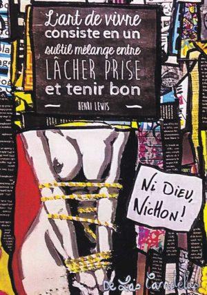 Card Lâcher prise N°1. Cécile De Las Candelas painter.