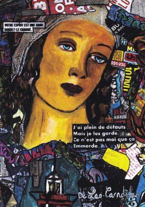 Card Beau rivage N°1. Cécile De Las Candelas painter.