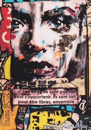 Card Dr Jekyll N°2. Cécile De Las Candelas painter.