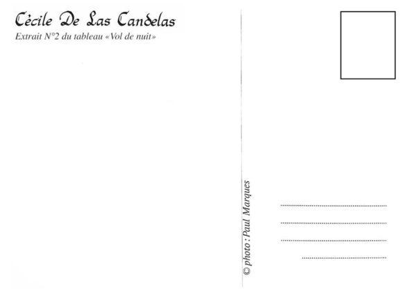 Carte Vol de nuit N°2, Cécile De Las Candelas artiste peintre