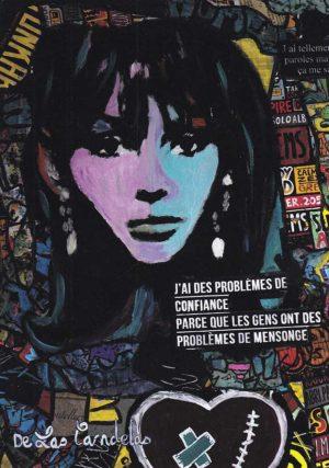 Card Message personnel N°2. Cécile De Las Candelas painter.