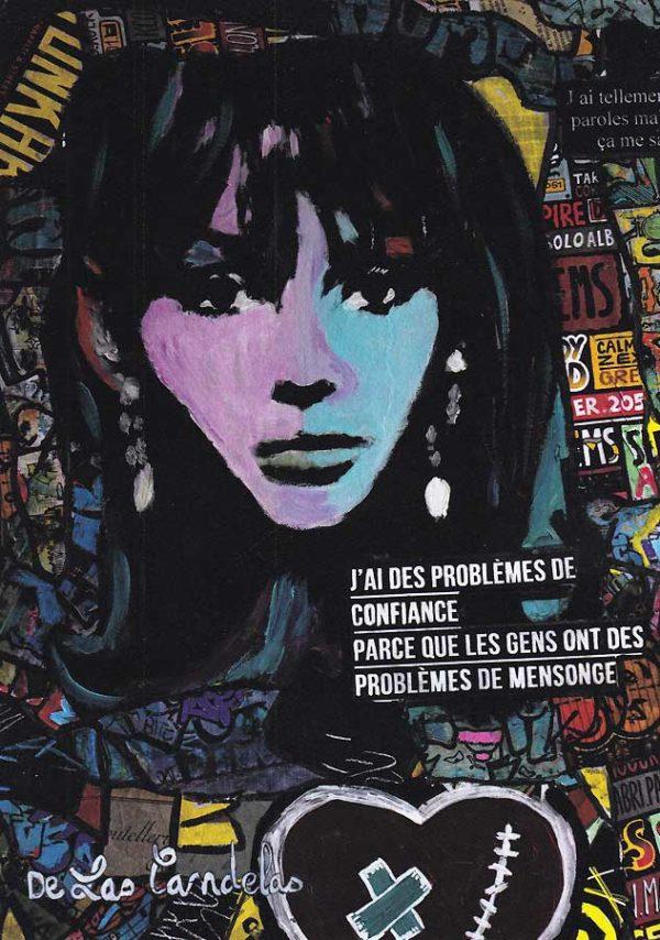 Carte Message personnel N°2, Cécile De Las Candelas artiste peintre
