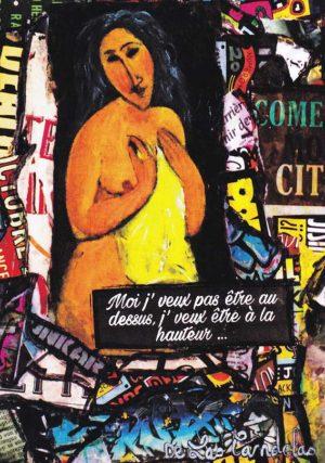 Card Love me tender N°1. Cécile De Las Candelas painter.