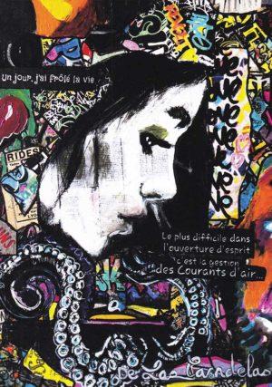 Card Réflexion N°1. Cécile De Las Candelas painter.