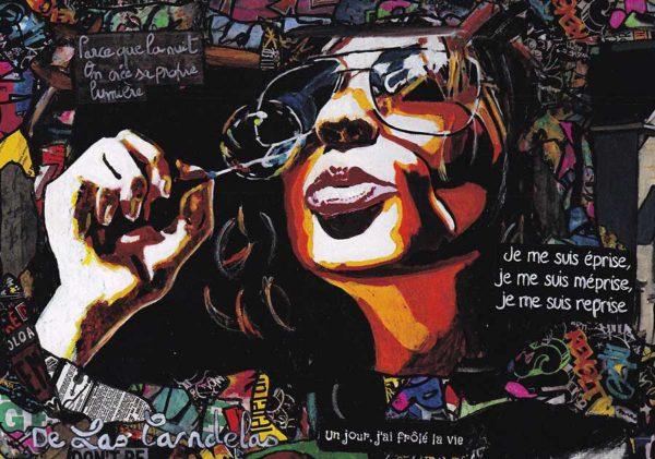 Carte Don't be afraid extrait N°2, Cécile De Las Candelas artiste peintre