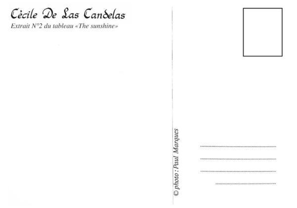 Carte The sunshine N°2, Cécile De Las Candelas artiste peintre