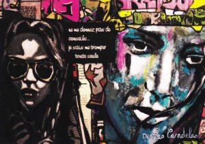 Card Carte Histoire d'O N°2. Cécile De Las Candelas painter.