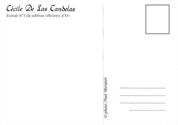 Carte Histoire d'O, extrait N°2, Cécile De Las Candelas artiste peintre