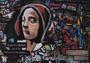 Card Hearts Attach N°1. Cécile De Las Candelas painter.