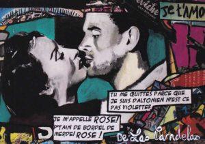 Card Vertige de l'amour N°1. Cécile De Las Candelas painter.