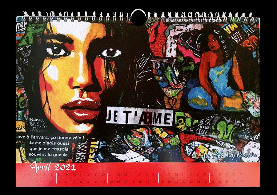 Calendar 2021, limited and numbered series! Cécile De Las Candelas painter