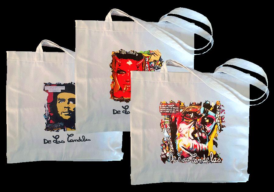 Cotton bags, a great gift idea! Cécile De Las Candelas painter