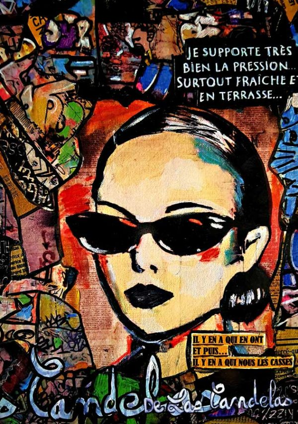 Carte Incondicional N°2, Cécile De Las Candelas artiste peintre