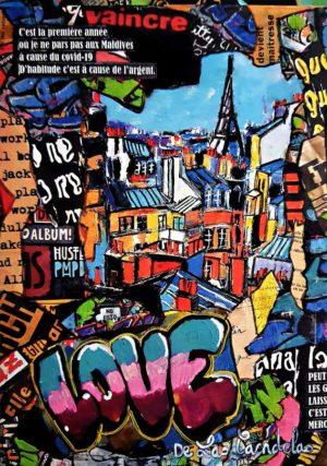 Card Flagrant déni N°2. Cécile De Las Candelas painter.