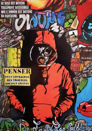 Carte Warning N°6, Cécile De Las Candelas artiste peintre